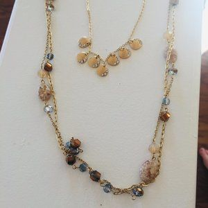 2 Gold tone fashion Necklaces